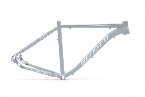 "Mountainbike Rahmen Sondrio AL grau-weiß-matt 27,5"""