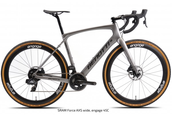 FUOCO GRAVEL Carbon, Silver ED Force AXS Wide