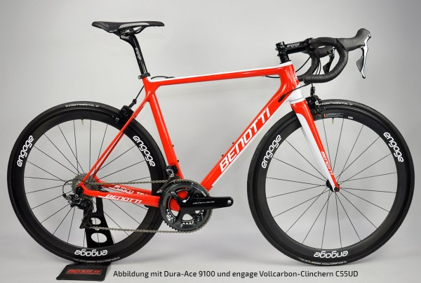 FUOCO TEAM Carbon rot-weiß-glänzend