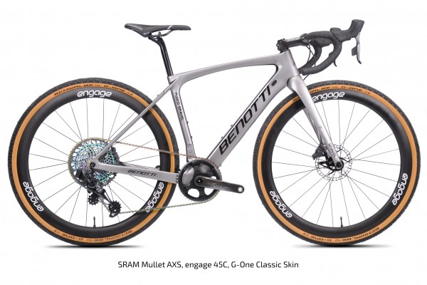 FUOCO GRAVEL Carbon, Silver ED Mullet AXS