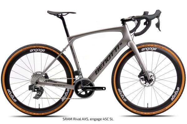 FUOCO GRAVEL Carbon, Silver ED Rival AXS
